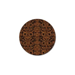 Damask2 Black Marble & Rusted Metal (r) Golf Ball Marker