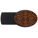 DAMASK2 BLACK MARBLE & RUSTED METAL (R) USB Flash Drive Oval (2 GB)