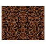 DAMASK2 BLACK MARBLE & RUSTED METAL (R) Rectangular Jigsaw Puzzl