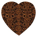 DAMASK2 BLACK MARBLE & RUSTED METAL (R) Jigsaw Puzzle (Heart)