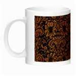 DAMASK2 BLACK MARBLE & RUSTED METAL (R) Night Luminous Mugs