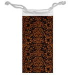 DAMASK2 BLACK MARBLE & RUSTED METAL (R) Jewelry Bag Back