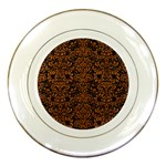 DAMASK2 BLACK MARBLE & RUSTED METAL (R) Porcelain Plates