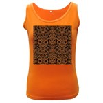 DAMASK2 BLACK MARBLE & RUSTED METAL (R) Women s Dark Tank Top
