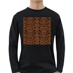 DAMASK2 BLACK MARBLE & RUSTED METAL (R) Long Sleeve Dark T-Shirts