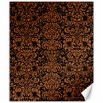 DAMASK2 BLACK MARBLE & RUSTED METAL (R) Canvas 8  x 10