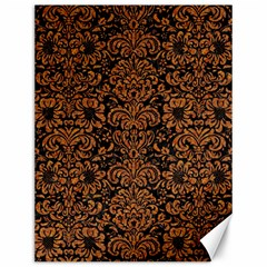 Damask2 Black Marble & Rusted Metal (r) Canvas 12  X 16   by trendistuff