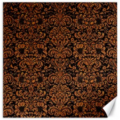 Damask2 Black Marble & Rusted Metal (r) Canvas 20  X 20