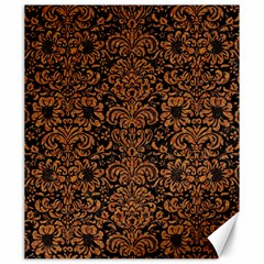 Damask2 Black Marble & Rusted Metal (r) Canvas 20  X 24