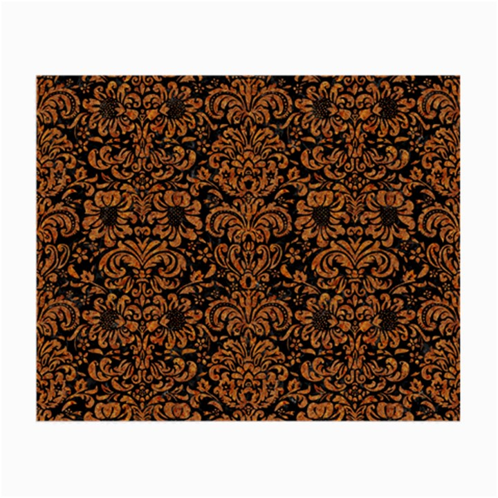 DAMASK2 BLACK MARBLE & RUSTED METAL (R) Small Glasses Cloth (2-Side)