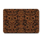 DAMASK2 BLACK MARBLE & RUSTED METAL (R) Small Doormat