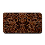 DAMASK2 BLACK MARBLE & RUSTED METAL (R) Medium Bar Mats 16 x8.5 Bar Mat - 1