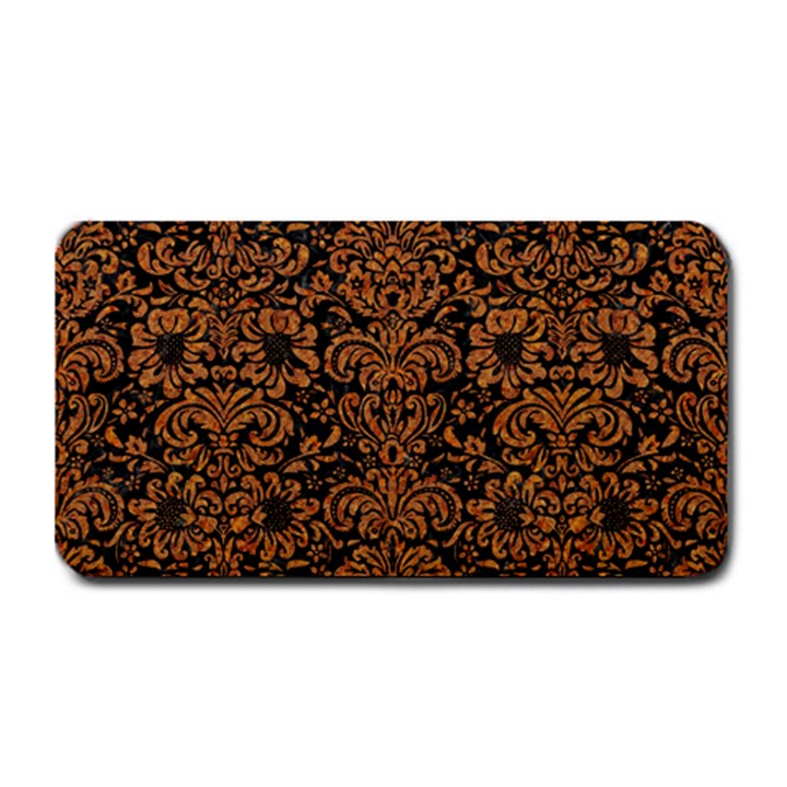 DAMASK2 BLACK MARBLE & RUSTED METAL (R) Medium Bar Mats