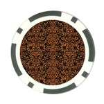 DAMASK2 BLACK MARBLE & RUSTED METAL (R) Poker Chip Card Guard Front