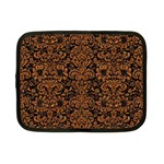 DAMASK2 BLACK MARBLE & RUSTED METAL (R) Netbook Case (Small)