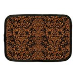 DAMASK2 BLACK MARBLE & RUSTED METAL (R) Netbook Case (Medium)
