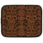 DAMASK2 BLACK MARBLE & RUSTED METAL (R) Netbook Case (Large)