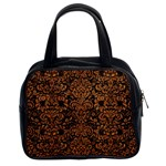 DAMASK2 BLACK MARBLE & RUSTED METAL (R) Classic Handbags (2 Sides)
