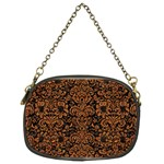 DAMASK2 BLACK MARBLE & RUSTED METAL (R) Chain Purses (Two Sides)
