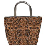 DAMASK2 BLACK MARBLE & RUSTED METAL (R) Bucket Bags Back