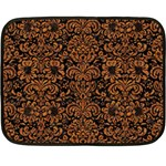 DAMASK2 BLACK MARBLE & RUSTED METAL (R) Fleece Blanket (Mini)