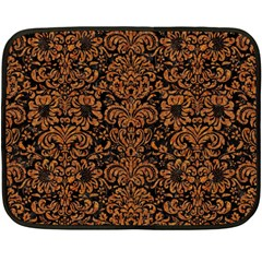 Damask2 Black Marble & Rusted Metal (r) Double Sided Fleece Blanket (mini)  by trendistuff