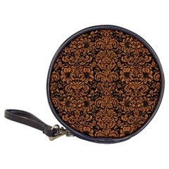 Damask2 Black Marble & Rusted Metal (r) Classic 20 Cd Wallets by trendistuff