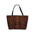 DAMASK2 BLACK MARBLE & RUSTED METAL (R) Shoulder Handbags