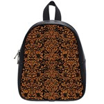 DAMASK2 BLACK MARBLE & RUSTED METAL (R) School Bag (Small)