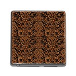 DAMASK2 BLACK MARBLE & RUSTED METAL (R) Memory Card Reader (Square)