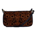 DAMASK2 BLACK MARBLE & RUSTED METAL (R) Shoulder Clutch Bags