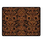 DAMASK2 BLACK MARBLE & RUSTED METAL (R) Fleece Blanket (Small)