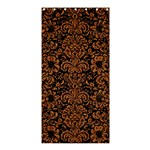 DAMASK2 BLACK MARBLE & RUSTED METAL (R) Shower Curtain 36  x 72  (Stall)