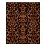 DAMASK2 BLACK MARBLE & RUSTED METAL (R) Shower Curtain 60  x 72  (Medium)