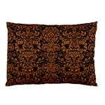 DAMASK2 BLACK MARBLE & RUSTED METAL (R) Pillow Case (Two Sides)