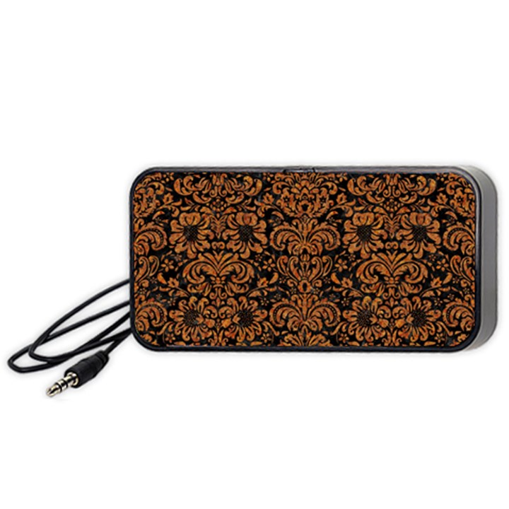 DAMASK2 BLACK MARBLE & RUSTED METAL (R) Portable Speaker