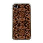 DAMASK2 BLACK MARBLE & RUSTED METAL (R) Apple iPhone 4 Case (Clear)
