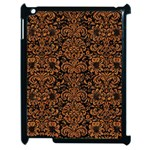 DAMASK2 BLACK MARBLE & RUSTED METAL (R) Apple iPad 2 Case (Black)
