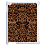 DAMASK2 BLACK MARBLE & RUSTED METAL (R) Apple iPad 2 Case (White)