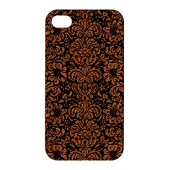 Damask2 Black Marble & Rusted Metal (r) Apple Iphone 4/4s Hardshell Case by trendistuff