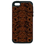 DAMASK2 BLACK MARBLE & RUSTED METAL (R) Apple iPhone 5 Hardshell Case (PC+Silicone)