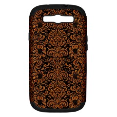 Damask2 Black Marble & Rusted Metal (r) Samsung Galaxy S Iii Hardshell Case (pc+silicone) by trendistuff