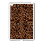 DAMASK2 BLACK MARBLE & RUSTED METAL (R) Apple iPad Mini Case (White)