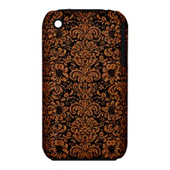 Damask2 Black Marble & Rusted Metal (r) Iphone 3s/3gs by trendistuff