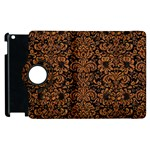 DAMASK2 BLACK MARBLE & RUSTED METAL (R) Apple iPad 2 Flip 360 Case