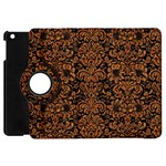 DAMASK2 BLACK MARBLE & RUSTED METAL (R) Apple iPad Mini Flip 360 Case