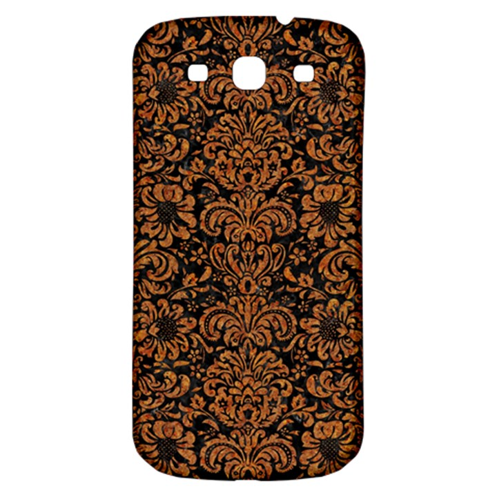 DAMASK2 BLACK MARBLE & RUSTED METAL (R) Samsung Galaxy S3 S III Classic Hardshell Back Case