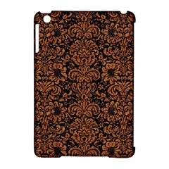 Damask2 Black Marble & Rusted Metal (r) Apple Ipad Mini Hardshell Case (compatible With Smart Cover)