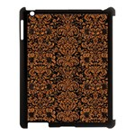 DAMASK2 BLACK MARBLE & RUSTED METAL (R) Apple iPad 3/4 Case (Black)