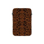 DAMASK2 BLACK MARBLE & RUSTED METAL (R) Apple iPad Mini Protective Soft Cases Front